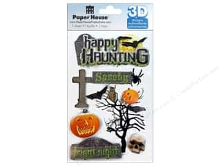 Paper House Sticker 3D Happy Haunting