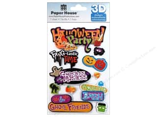 House of White Birches 11 in: Paper House Sticker 3D Halloween Party