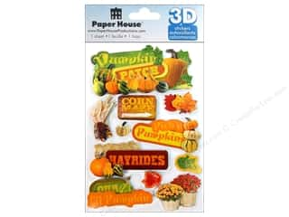 Paper House Sticker 3D Pumpkin Patch