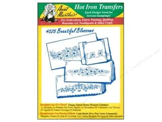 Aunt Martha Aunt Martha's Hot Iron Transfers Green: Aunt Martha's Hot Iron Transfer #4025 Green Beautiful Blossoms