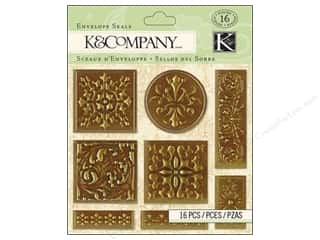 K&amp;Co Embel Envelope Seals Beyond Postmarks Foil
