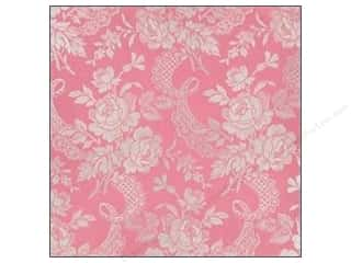 Anna Griffin Paper 12 x 12 in. Camilla Foil Floral Pink (25 piece)