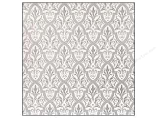 Anna Griffin Paper 12 x 12 in. Camilla Foil Damask Silvr (25 piece)