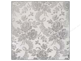 Anna Griffin Paper 12 x 12 in. Camilla Foil Floral Silvr (25 piece)
