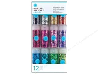 Martha Stewart Glitter Holographic 12pc