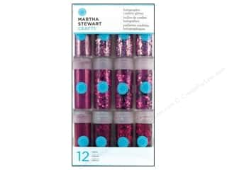 Martha Stewart Glitter Holographic Pinks 12pc