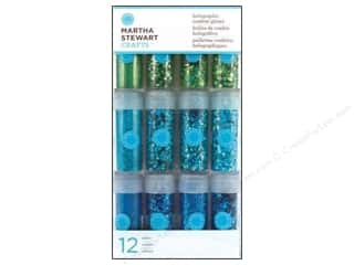 Glitter Blue: Martha Stewart Glitter Holographic Blues 12pc