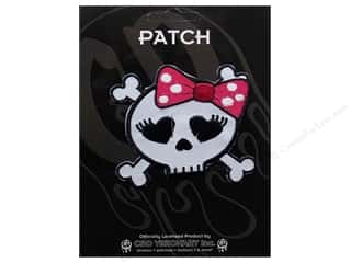 C&D Visionary Patch Skulls Girl Skull