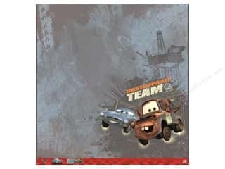 "EK Success Licensed Products: EK Paper 12""x 12"" Bulk Disney Cars 2 Mater & Finn Paper (25 pieces)"