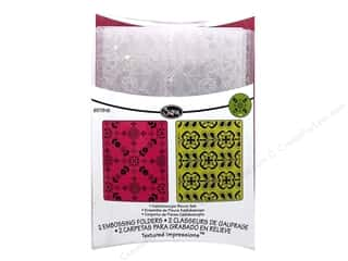Sizzix Texture Templates: Sizzix Textured Impressions Embossing Folders 2PK Kaleidoscope Blooms by Rachel Bright