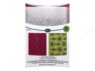 Graphic Impressions: Sizzix Embossing Folders Rachel Bright Textured Impressions Psychedelic Dreams