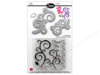 Sizzix Framelits Die Set 5 PK with Stamps Swirl