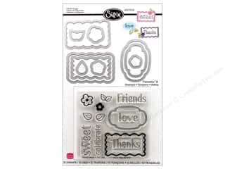 Sizzix Framelits Die Set 10 PK with Stamps Words & Tags