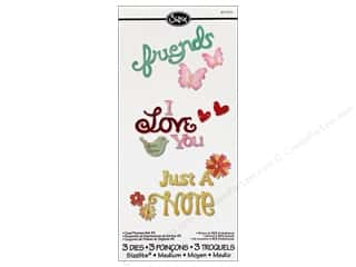 Sizzix Sizzlits Die Set 3pc. Card Phrases #2