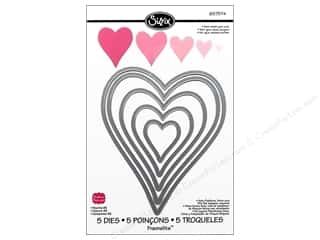 Sizzix Die SBarnard Framelits Set Hearts #2