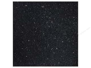 American Crafts 12 x 12 in. Cardstock Duotone Glitter Black (15 piece)
