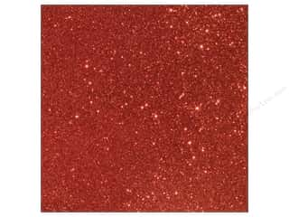 Stock Up Sale Sulyn Glitter: American Crafts 12 x 12 in. Cardstock Duotone Glitter Crimson (15 piece)