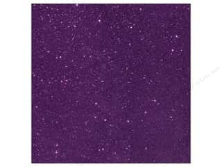 American Crafts American Crafts 12 x 12 in. Paper: American Crafts 12 x 12 in. Cardstock Duotone Glitter Plum (15 pieces)