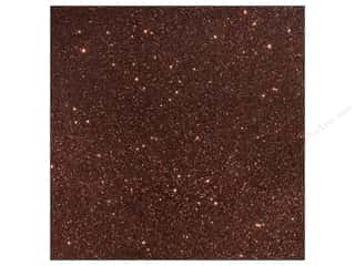 American Crafts 12 x 12 in. Cardstock Duotone Glitter Chestnut (15 piece)