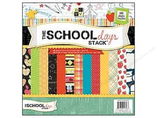 2013 Crafties - Best Scrapbooking Supply DieCuts Paper Stacks: DieCuts 12 x 12 in. Paper Stack The School Days