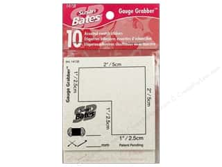 Yarn & Needlework Clear: Bates Knit Chek Aid Gauge Grabber Stickers 10pc