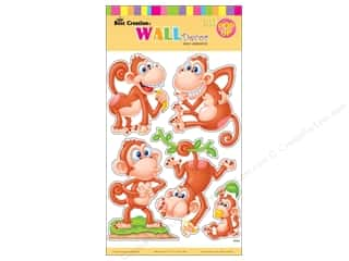 Best Creation Back To School: Best Creation Wall Decor Stickers Pop-Up Cartoon Monkey