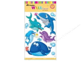 "Clearance Best Creation Wall Decor Sticker: Best Creation Wall Decor Sticker 16"" Cartoon Shark"
