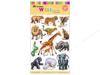 "Best Creation Wall Decor Sticker 16"" Zoo Animals"