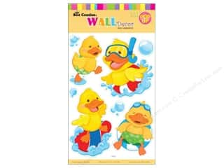 "Best Creation Wall Decor Sticker 16"" Yellow Ducks"