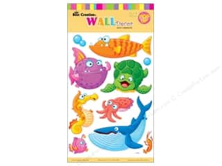 "Best Creation Wall Decor Sticker 16"" Cartoon Fish"
