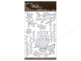 "Best Creation Wall Decor Sticker 16"" Owl Silver"