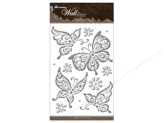 "sticker: Best Creation Wall Decor Sticker 16"" Buttrfly Slvr"
