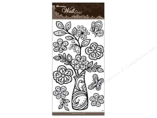 sticker: Best Creation Wall Decor Stickers 3D Black Crystal Vase