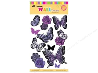 Best Creation Flowers: Best Creation Wall Decor Stickers 3D Purple Butterfly & Flowers