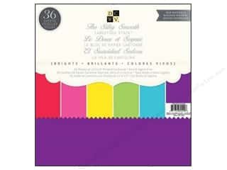 Clearance Die Cuts with a View Stacks: Die Cuts 12 x 12 in. Paper Stack Silky Smooth Brights