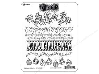 Ranger Dylusions Stamp Rubber Christmas Borders