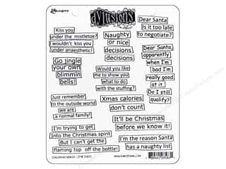 Ranger Dylusions Stamp Rubber Christmas Words