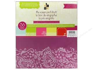 2013 Crafties - Best Scrapbooking Supply DieCuts Paper Stacks: Die Cuts 12 x 12 in. Paper Stack Screen Print Brights