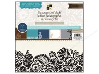 2013 Crafties - Best Scrapbooking Supply DieCuts Paper Stacks: Die Cuts 12 x 12 in. Paper Stack Screen Print Neutrals