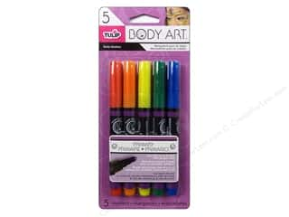 Tulip Drawing: Tulip Body Art Markers Primary 5pc