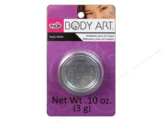Tulip Body Art Body Glitter 0.10oz Silver