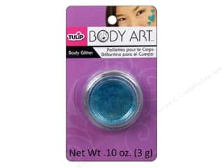 Tulip Body Art Body Glitter 0.10oz Light Blue