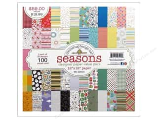 Holiday Sale Designer Papers & Cardstock: Doodlebug Paper 12 x 12 in. Seasons Assorted Pack