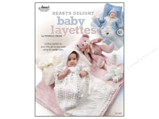 Clearance Red Heart Light & Lofty Yarn: Crochet Heart's Delight Baby Layettes Book