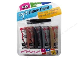 Tulip Soft Fabric Paint  Multi Neutral 5pc  0.9oz