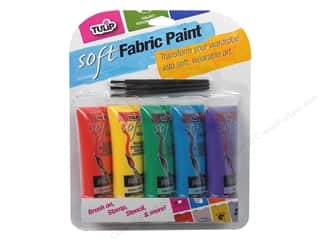 acrylic paint: Tulip Soft Fabric Paint Multi Primary 5pc 0 .9oz