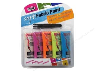 acrylic paint: Tulip Soft Fabric Paint Multi Bright 5pc 0.9 oz.