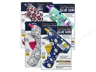 hot glue: Darice Glue Gun Low Temp Designer Print Assorted (4 sets)