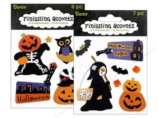 Theme Stickers / Collection Stickers: Darice Sticker 3D Finishing Accentz Astd Pumpkin (6 set)
