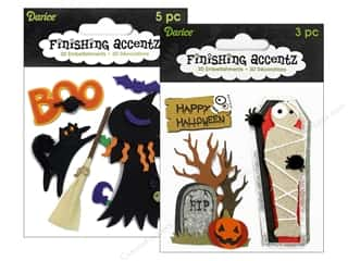 Theme Stickers / Collection Stickers: Darice Sticker 3D Finishing Accentz Astd Witch (6 set)